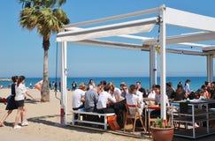 Plażowy taverna, Barcelona obrazy royalty free
