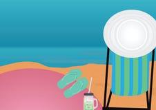 Plażowy tematu tło Zdjęcie Stock