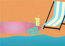 Plażowy tematu tło Obraz Royalty Free