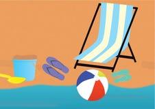 Plażowy tematu tło Fotografia Stock