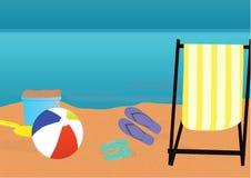 Plażowy tematu tło Obraz Stock