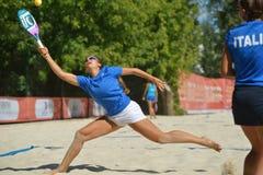 Plażowy Tenisowy świat drużyny mistrzostwo 2014 obrazy royalty free