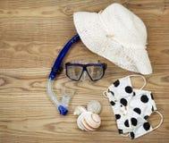 Plażowy ubiór dla lato zabawy obraz stock