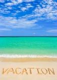 plażowy urlopowy słowo zdjęcia stock