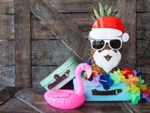 Plażowy wakacje dla bożych narodzeń zdjęcie royalty free