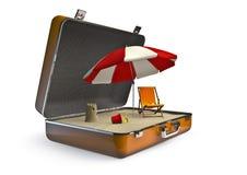 plażowy wakacyjny pakunek ilustracja wektor
