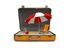 plażowy wakacyjny pakunek ilustracji