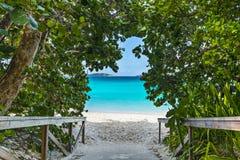 Plażowy wejście Fotografia Royalty Free