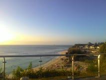 Pla?owy widok od tropikalnej wyspy Bali fotografia stock