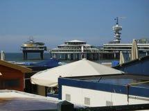 Plażowy widok Scheveningen zdjęcia stock