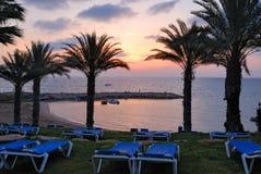 plażowy wschód słońca obraz royalty free