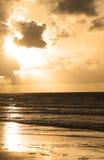 plażowy wschód słońca Obrazy Stock