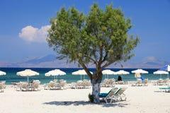 plażowy wyspy kos mastichari fotografia stock