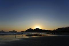 plażowy zmierzch obrazy stock