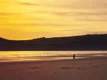 plażowy zmierzch zdjęcie royalty free