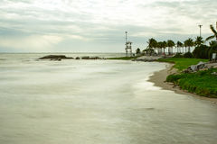Plażowy zmierzch tęsk ujawnienie Zdjęcia Stock
