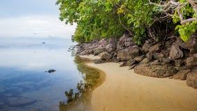 Plażowy zmierzchu wschód słońca, zmierzch na oceanie, abstrakcjonistyczny environmenta Obraz Royalty Free