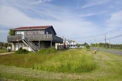 Plażowych domów linii przykopu równiny Montauk Hamptons Nowy Jork fotografia royalty free