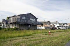 Plażowych domów przykopu równiny Montauk Hamptons Nowy Jork zdjęcie royalty free