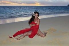 plaży czterdzieści starej kobiety rok fotografia royalty free