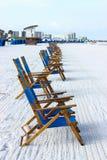 plaży krzeseł głębii pola płycizna bardzo Zdjęcia Royalty Free