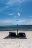plaży krzeseł głębii pola płycizna bardzo Fotografia Royalty Free