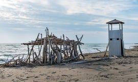 plaży morza śródziemnego obrazy stock
