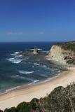 Plaży, niebieskiego nieba i falez wiktoriański południowe wybrzeże, Zdjęcie Royalty Free