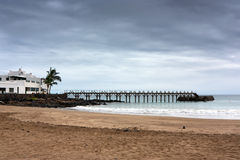 plaży pusty nieba grożenie Obrazy Stock