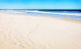 plaży pusty piaska biel Fotografia Royalty Free