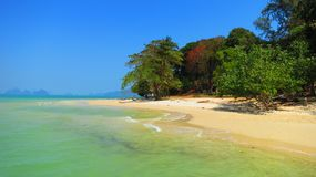 plaży w kąpieliskach resztę dnia słońce Thailand Zdjęcie Stock