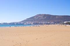 Plaża Agadir, Maroko Obrazy Stock
