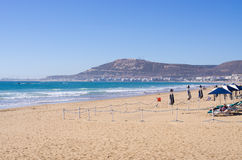 Plaża Agadir, Maroko Fotografia Stock