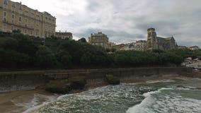 Plaża Biarritz od wysepki Rocher Du Basta 07 zbiory