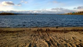 Plaża blisko Ural gór Zdjęcie Stock