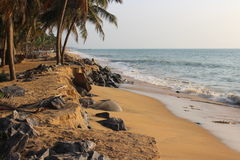 Plaża blisko wioski rybackiej Obrazy Royalty Free