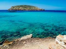 Plaża Cala Conta, Ibiza, Hiszpania Zdjęcie Royalty Free