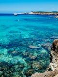 Plaża Cala Conta, Ibiza, Hiszpania Fotografia Stock