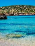 Plaża Cala Conta, Ibiza, Hiszpania Obrazy Royalty Free