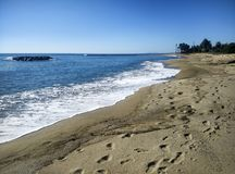 Plaża Cambrils, w Hiszpania Zdjęcie Royalty Free