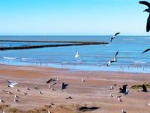 Plaża Chipiona w Cadiz Zdjęcia Royalty Free