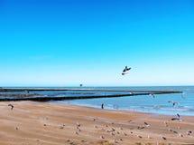 Plaża Chipiona w Cadiz Obraz Royalty Free
