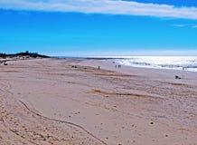 Plaża Chipiona w Cadiz Zdjęcia Stock