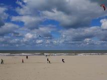 Plaż chmury Obrazy Stock