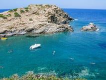 Plaża, Crete, Grecja Zdjęcie Stock