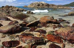 plaża dryluje tropikalnego Zdjęcia Royalty Free