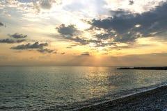 Plaża dryluje zmierzch Zdjęcia Royalty Free