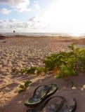 plaża dwa butów Zdjęcie Stock