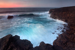 Plaże Lanzarote Obrazy Royalty Free