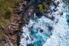Plaże Maui Hawaje Obrazy Royalty Free